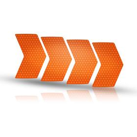 Riesel Design re:flex rim Naklejki odblaskowe, pomarańczowy